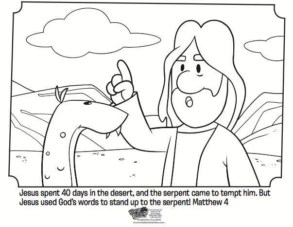 Jesus Overcomes Temptations Coloring Pages Jesus Temptation