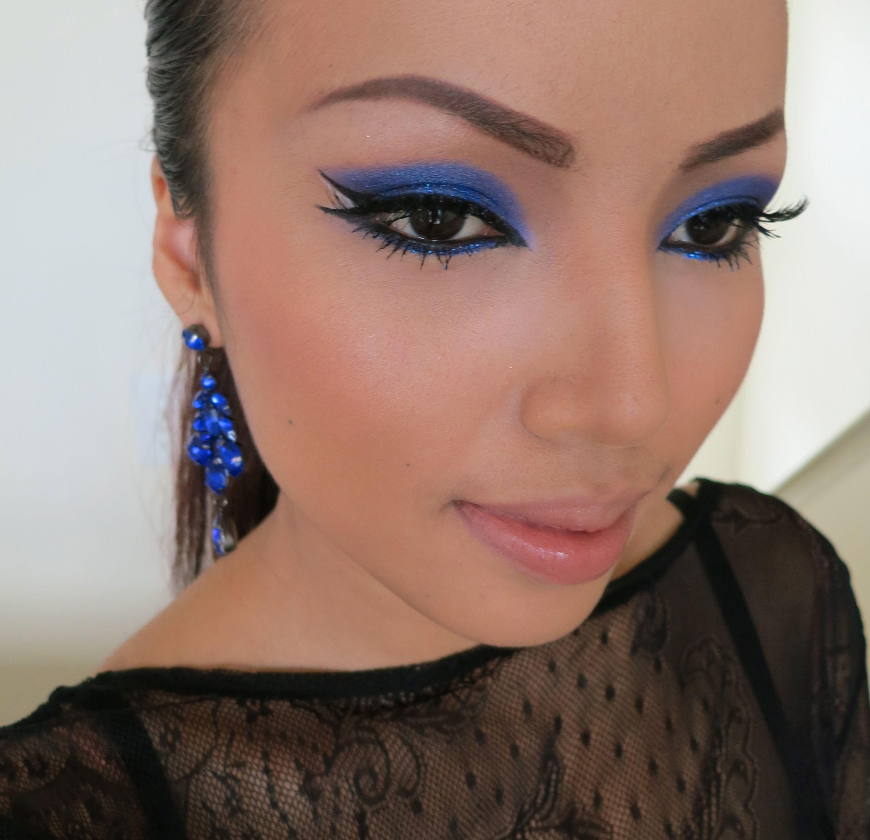 Cobalt Blue eyes inspired by my earrings