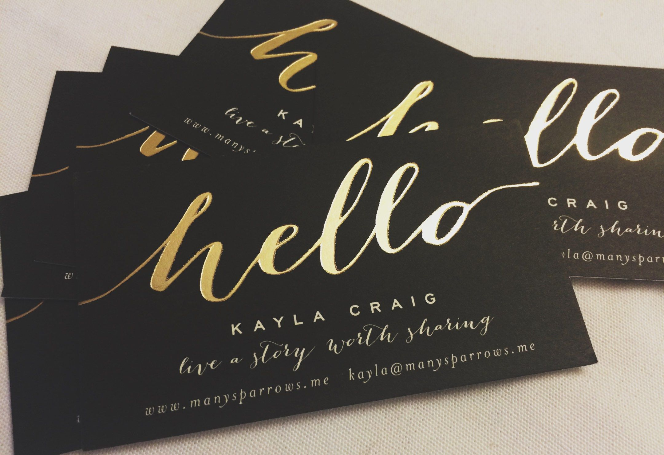 Minted Gold Foil Business Cards // Networking Tips (Including What ...
