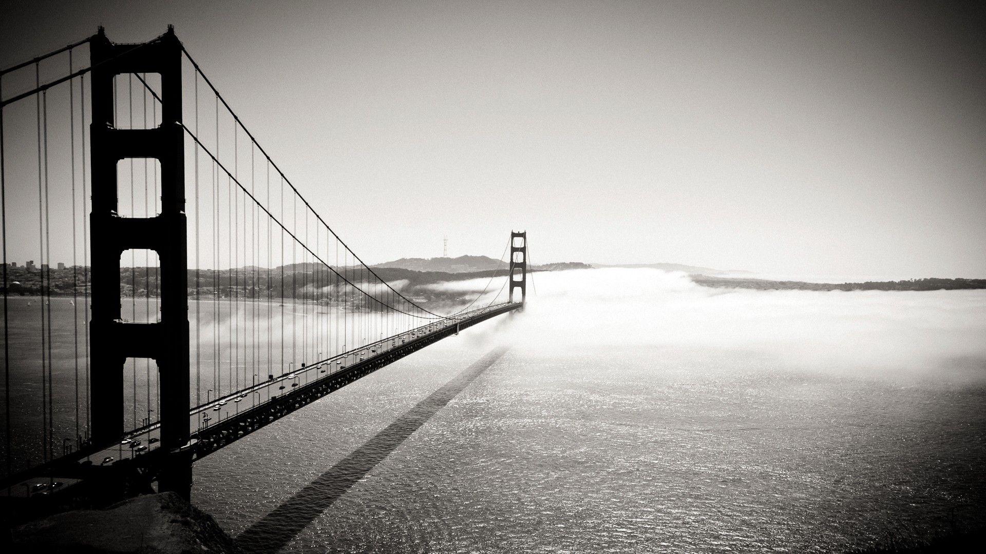 Golden Gate Bridge Fog HD Desktop Wallpaper for K Ultra HD TV