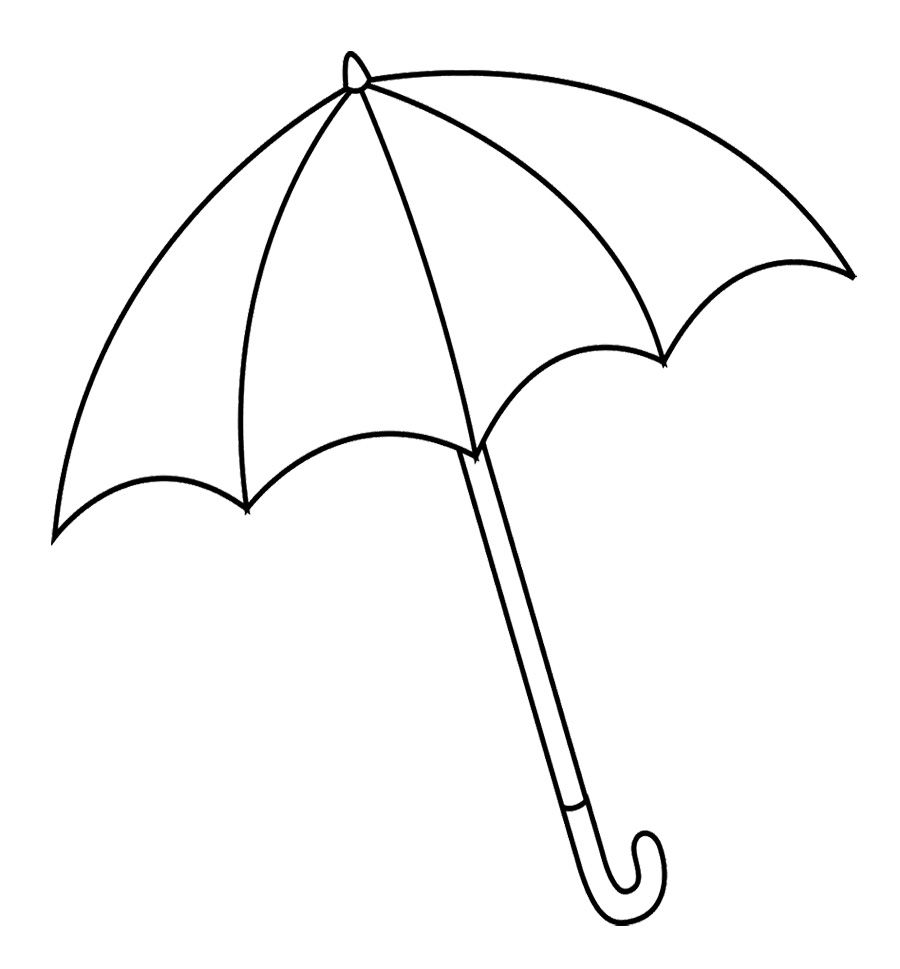 The Big Umbrella Black And White Coloring Pages | Coloring ...