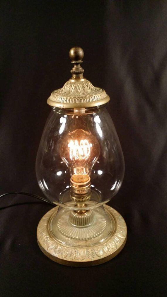 Ooak table lamp with glass shade re purposed vintage lamp parts ooak table lamp with glass shade re purposed vintage lamp parts edison style aloadofball Choice Image