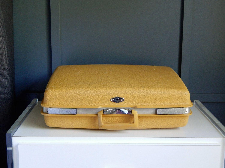 Vintage Yellow Suitcase/ Royal Traveler Suitcase/ Medium to Large ...