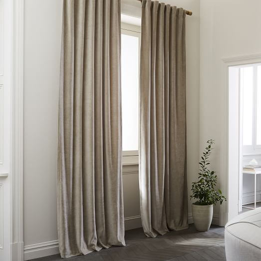 Worn Velvet Curtain Metal Velvet Curtains Curtains Living