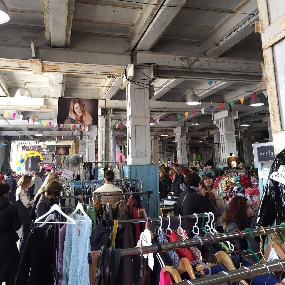 Kurazh bazaar - when an old factory is filled with second hand goods music and wacky people #kyiv #Ukraine