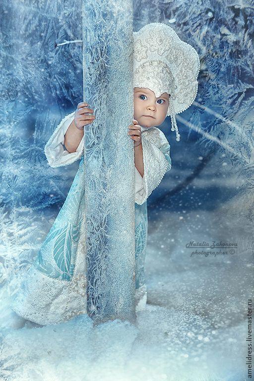 Купить Карнавальный костюм. Снегурочка - голубой ... - photo#47
