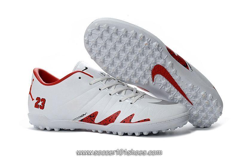 f42b7fd402d Nike Men s Hypervenom Phelon II TF NJR×JORDAN Turf Football Soccer Shoes  White Red  73.00