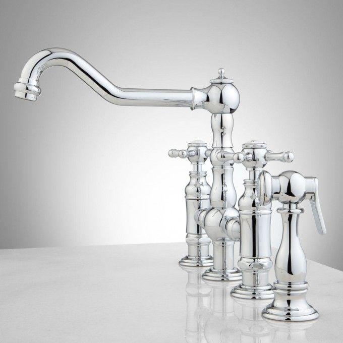 Bridge Kitchen Faucet With Sprayer