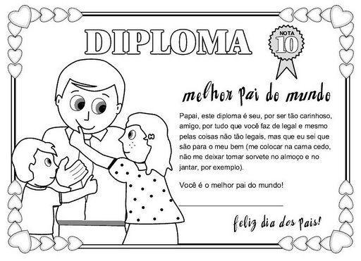 Carteles Y Diplomas Del Dia Del Padre Para Colorear Y Regalar Father S Day Activities Fathers Day Crafts Mothers Day Crafts