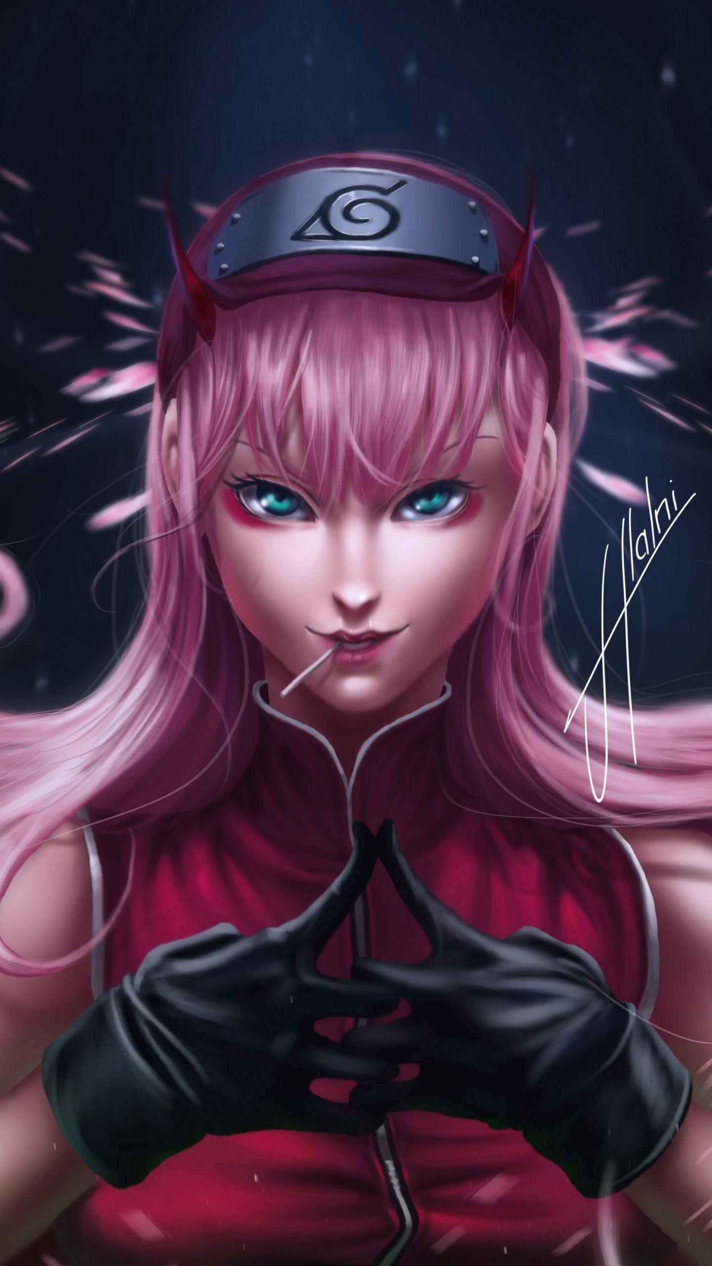 1440x2560 Anime Original Pink Hair Art Wallpaper Anime Warrior Girl Anime Wallpaper Download Anime