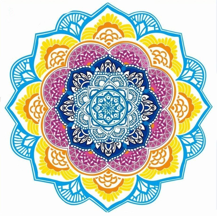 Indian Mandala Lotus Yoga Mat With Tassels Beach Blanket