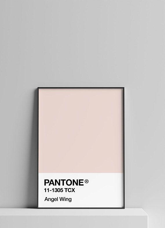print pantone poster pink wall art