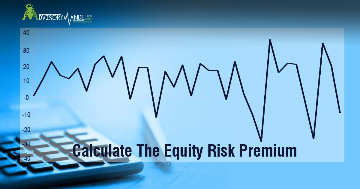 Basic formula to calculate the equity risk premium erp