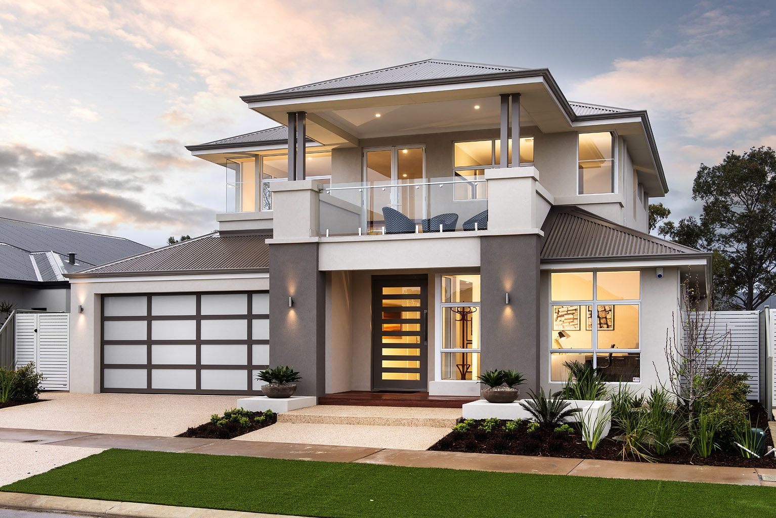 the tinelli ben trager homes perth display home modern facade elevation - Modern Display Homes