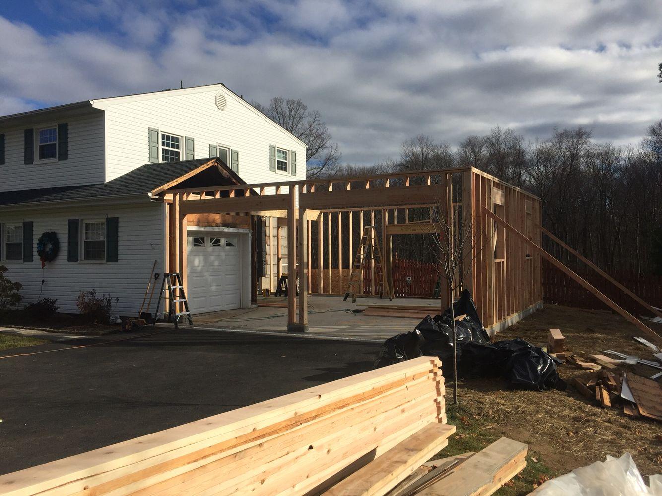 Framing Garage Addition | Garage Addition | Pinterest