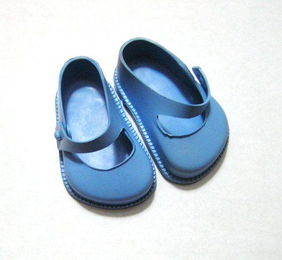 Vintage Cinderella No. 1 Blue Doll Shoes by by VictorianWardrobe, $6.99