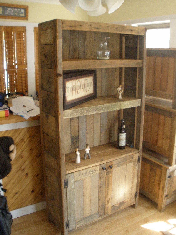 Barnwood Bookcase