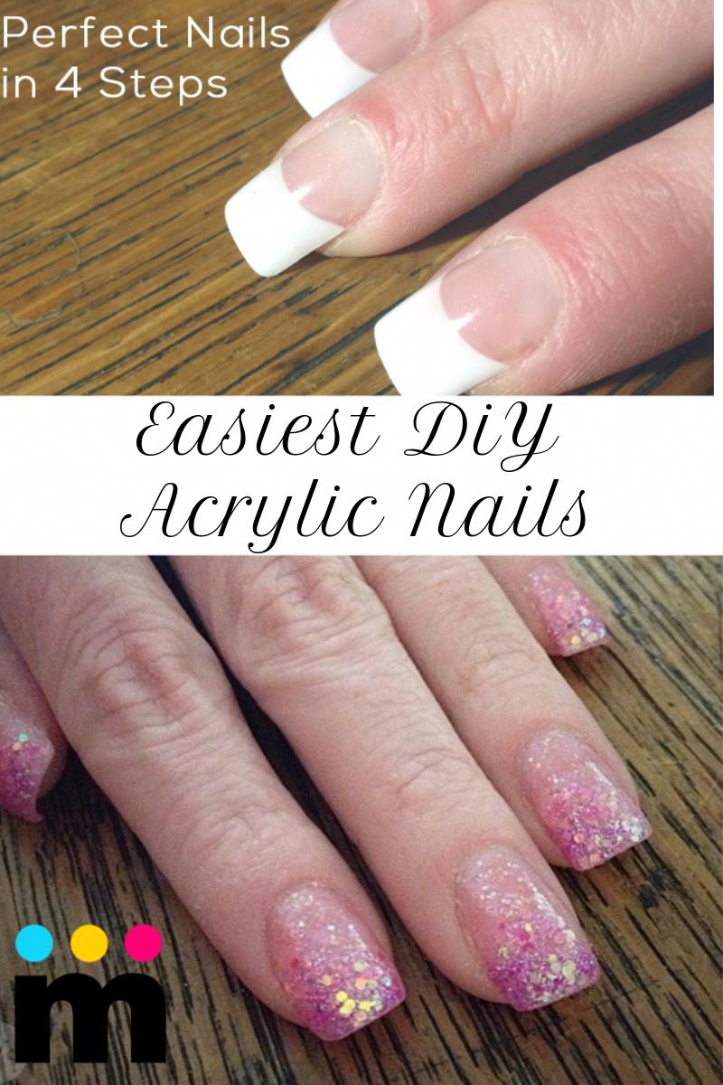 Easiest Diy Acrylic Nails Nails Momskoop Easiestdiynails Acrylicnails Diy Acrylic Nails Acrylic Nails At Home Diy Nail Designs