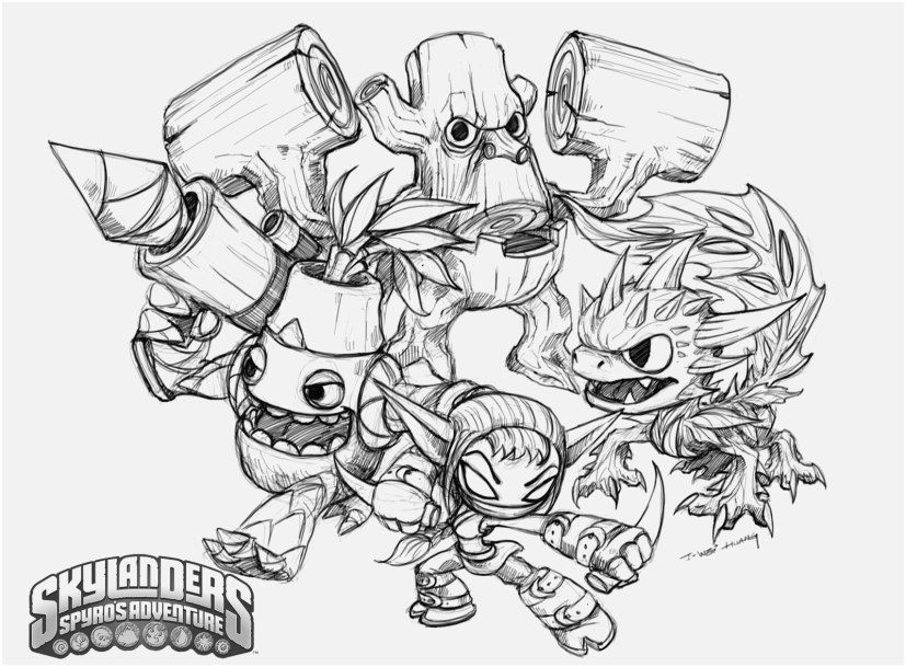 Skylanders Giants Coloring Pages Tree Rex Footage Skylanders