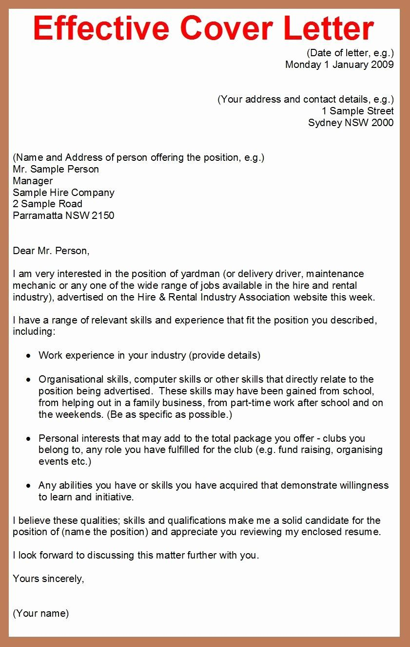 Cover letter for employment lovely how to write a cover