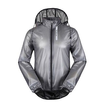 Santic Bicycle Cycling Jersey Windproof Waterproof Coat Raincoat with Hood Green