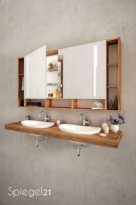 Unterputz Spiegelschrank Fur Das Bad Mit Stilvoller Led