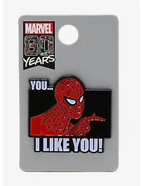 Marvel Spider-Man I Like You Enamel Pin,   Enamel pins ...