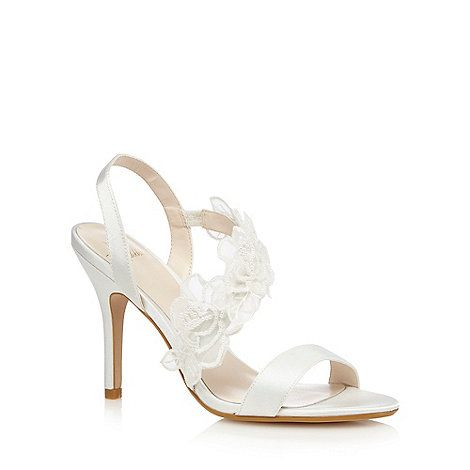 03a82e799df 1 Jenny Packham Ivory flower satin high sandals. High SandalsIvory  SandalsBridal ShoesWedding ShoesStiletto HeelsBeaded EmbroideryOur ...