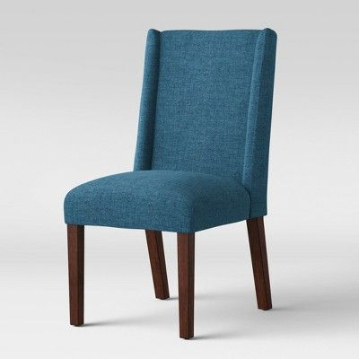 Lowell Modified Wingback Dining Chair Navy Ships Flat