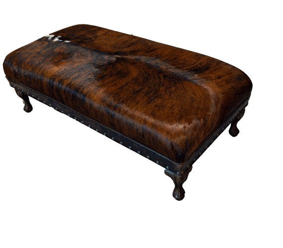 Cowhide Ottoman Brazilian Cowhide-Ball and Claw Foot by BeSofia ...
