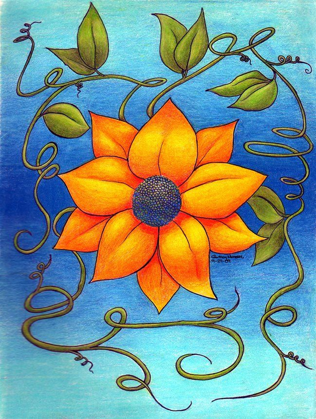 flower drawings with pencil best drawing sketch ideas - Color Drawings