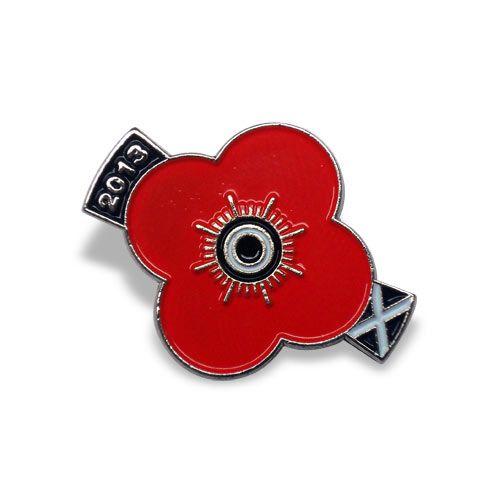 2013 Scottish Poppy Appeal Pin Badge  An enamel poppy badge