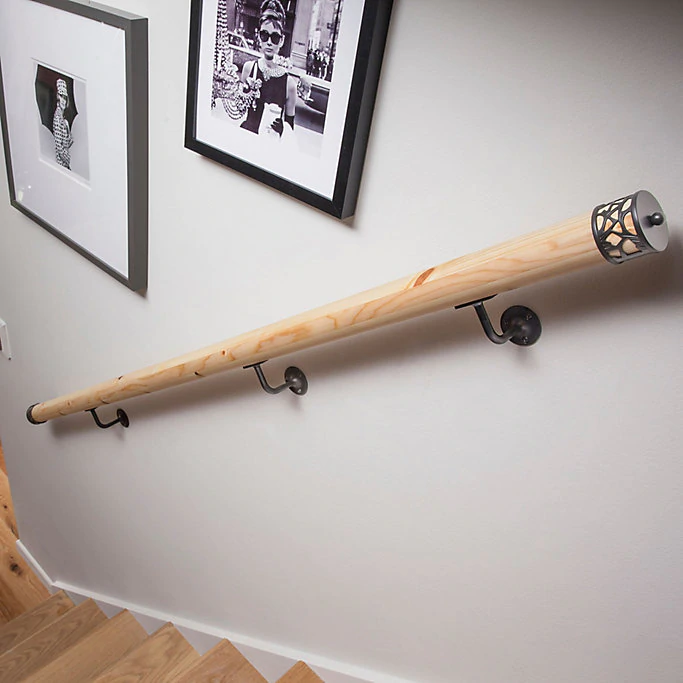 Best Pine Wall Mounted Handrail L 3600 Wall Mounted Handrail 640 x 480