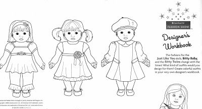 american girl bitty twins coloring pages american free printable - American Girl Coloring Pages Julie