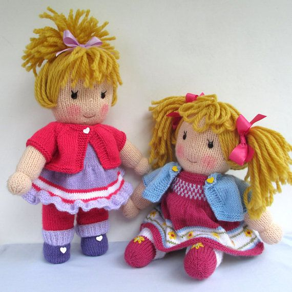 Jasmine And Violet Doll Knitting Pattern Instant Download