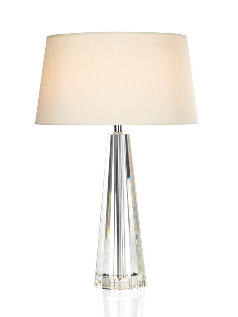 This Cyprus Table Lamp Has A Crystal Base And Comes Complete With A