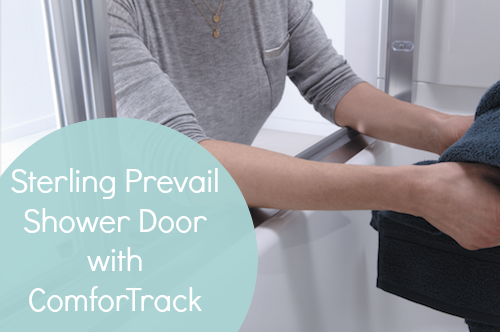 Sterling Prevail Shower Door with ComforTrack