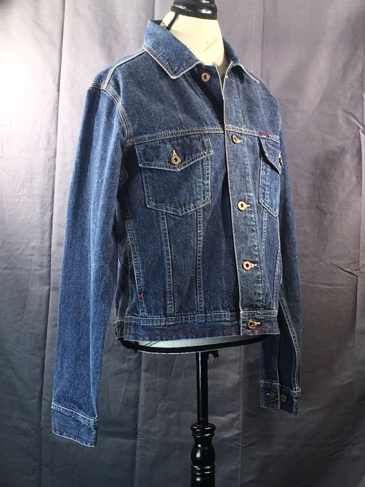 Men's Medium Tommy Hilfiger Jean Trucker Style Jacket