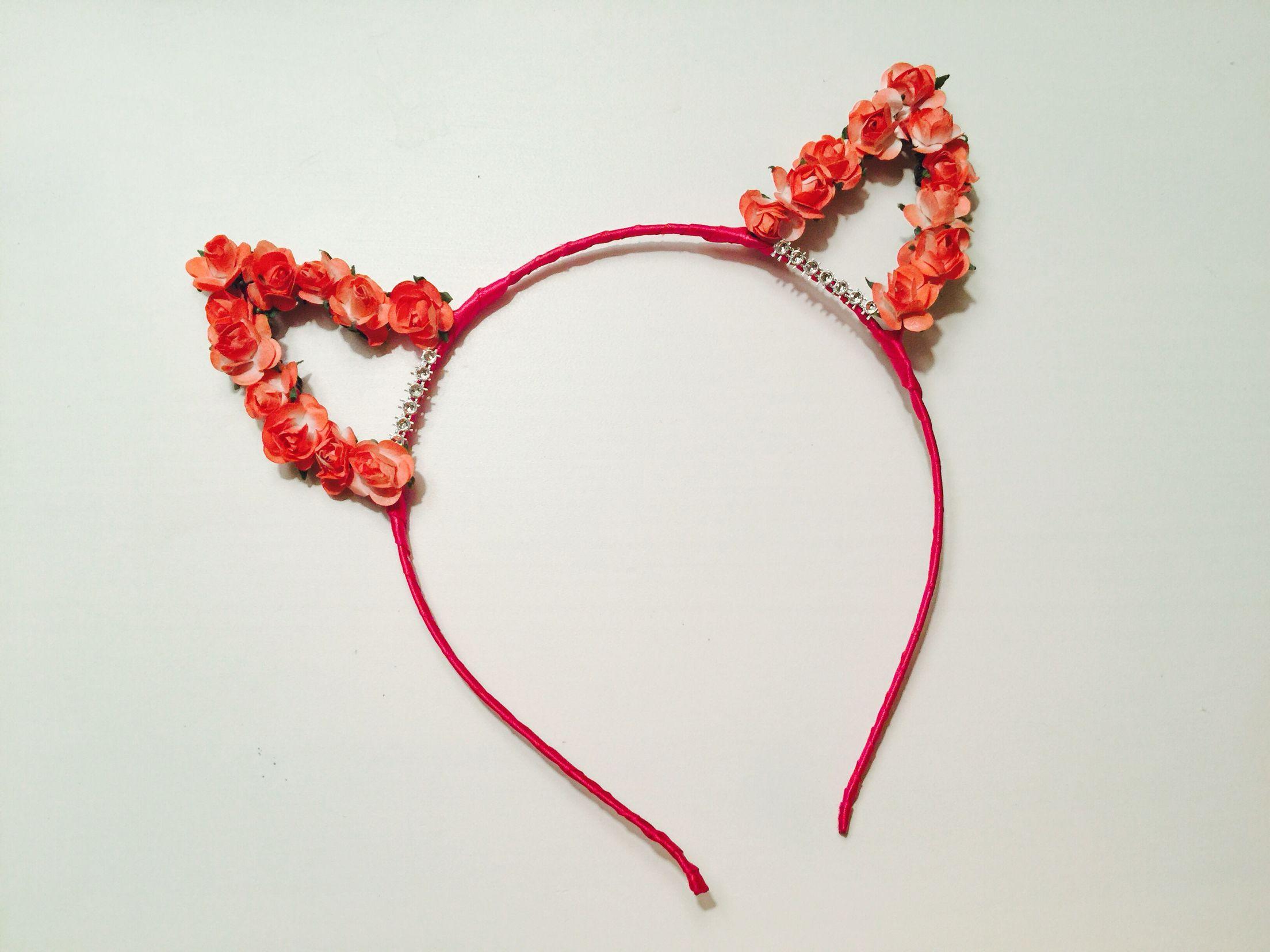 Naughty or Nice Flower devil headband halloween