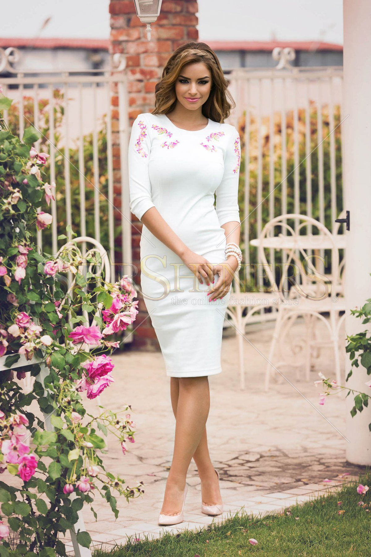 Wedding dresses for thin figures Embroidered Oasis Dress  Classy Lady  Pinterest  Oasis dress
