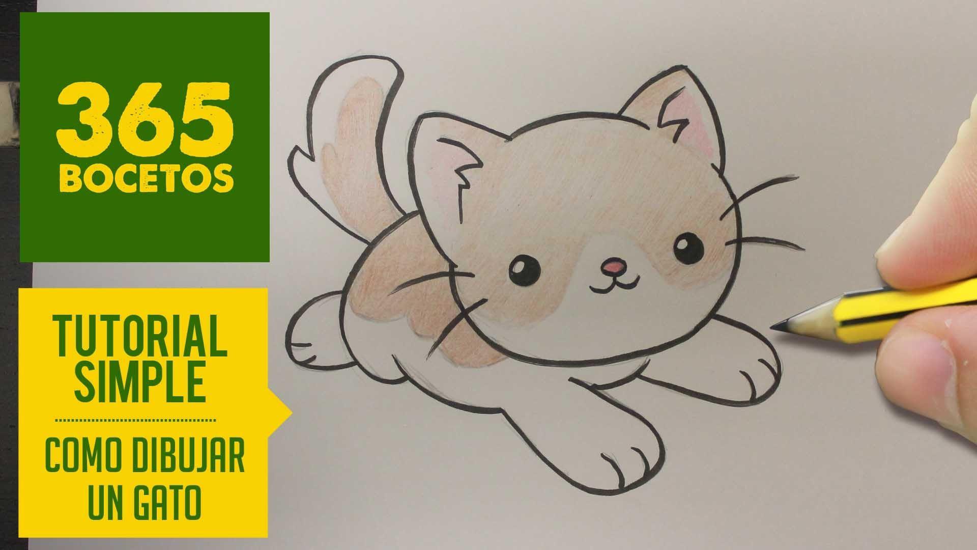 Como Dibujar Un Gato Kawaii Paso A Paso Dibujos Kawaii Faciles How T Como Dibujar Un Gato Dibujos Kawaii Dibujos Kawaii Faciles