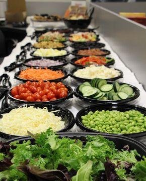 Idees Pour Un Bar A Salade Vegan Wedding Food Salad Bar Salad Bar Party