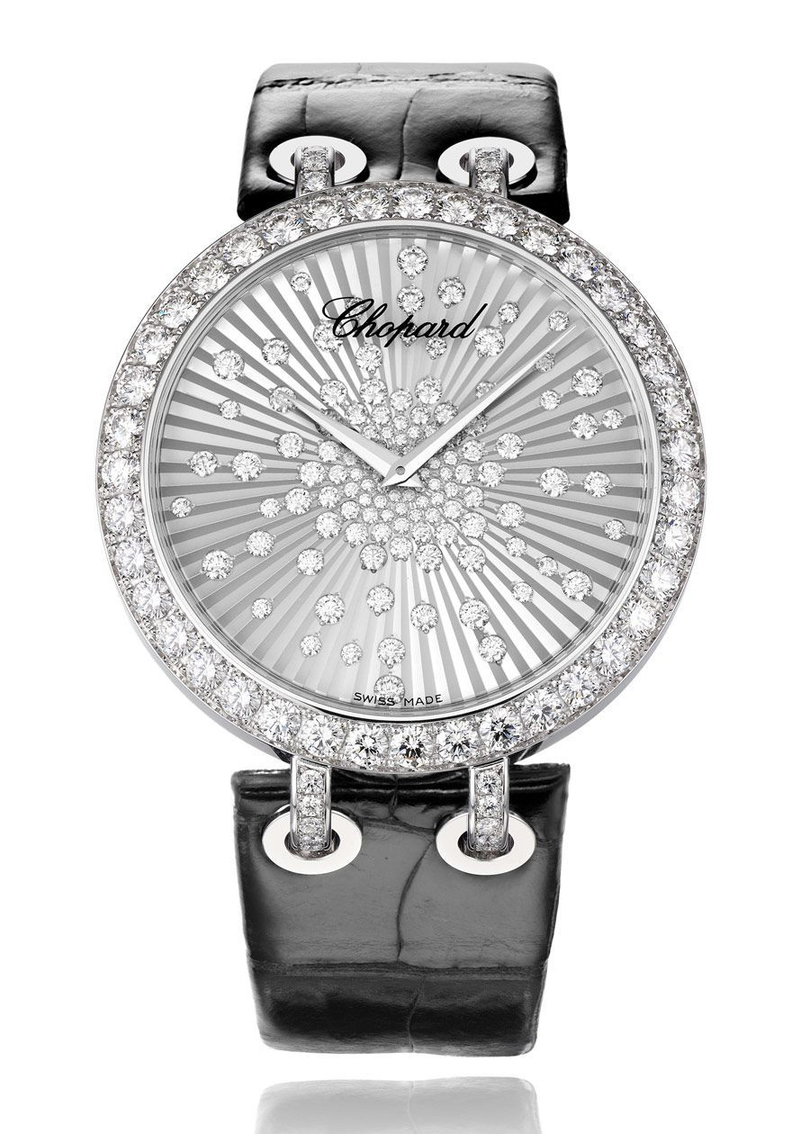 c289bd1cf81  Chopard Official Xtravaganza white gold and diamond watch.