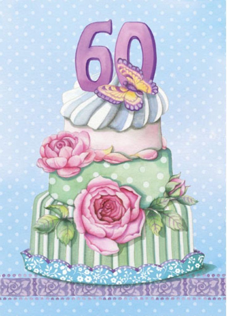 60th Birthday Cake For Her By Carol Wilson 736 1022 Happy Birthday
