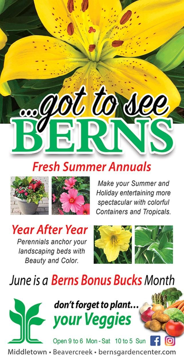 Enjoy Healthy, Fresh Plants With Plant Sales In West Chester At Berns Garden  Center Middletown