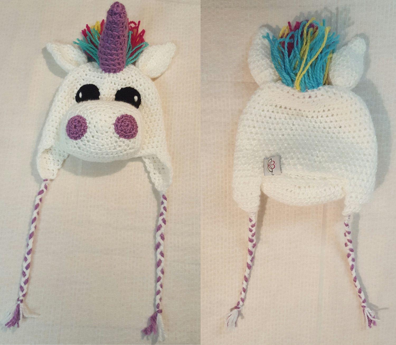 Unicorn hat, animal hat, unicorn beanie hat, 3D animal hat, crochet ...