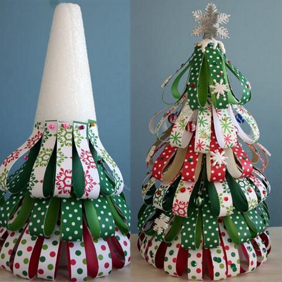 paper christmas tree craft | Si Soares Brincando com Arte: Árvore de natal com fitas
