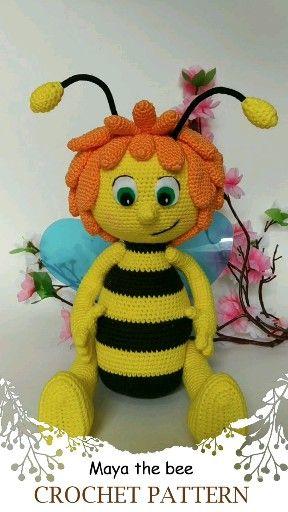Photo of Crochet pattern bee. Maya the bee