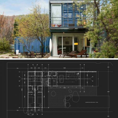 stacked shipping container home in spain spain ships and container architecture