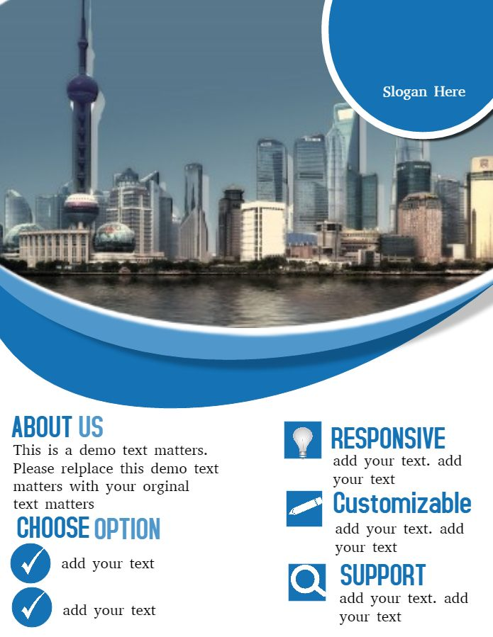 Blue Company Newsletter Design Template. Click To Customize